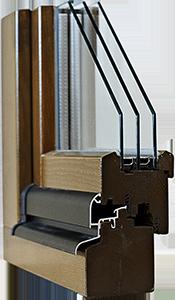 Fenêtres bois IV 68 Triple économique