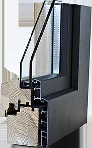 Fenêtres bois/alu IV 68