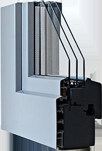 Fenêtres bois/alu IV 68 triple économique