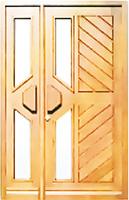Porte extérieure contemporaine